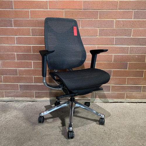 Discontinued Black Mesh Chair