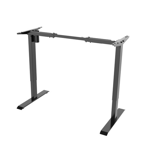 Single Motor, Height Adjustable Black or Silver Standing Desk Base (BASE ONLY - Order Top Separately Or Use Your Own)