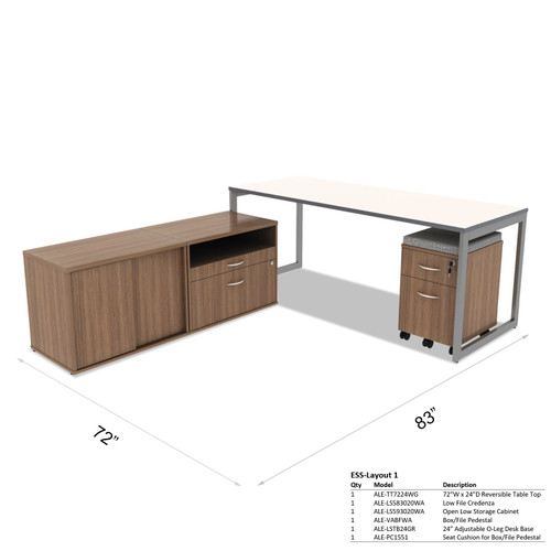 Alera L-Shaped Home Office