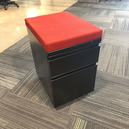 Pre-Owned Herman Miller Mobile Box/File Pedestal with Red Cushion