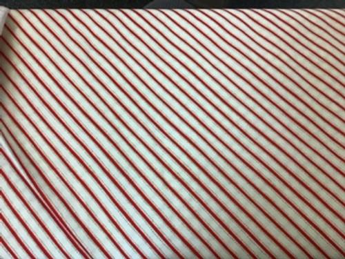 Mistletoe - red diagonal stripes