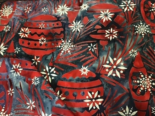 Noel - red Christmas balls on grey