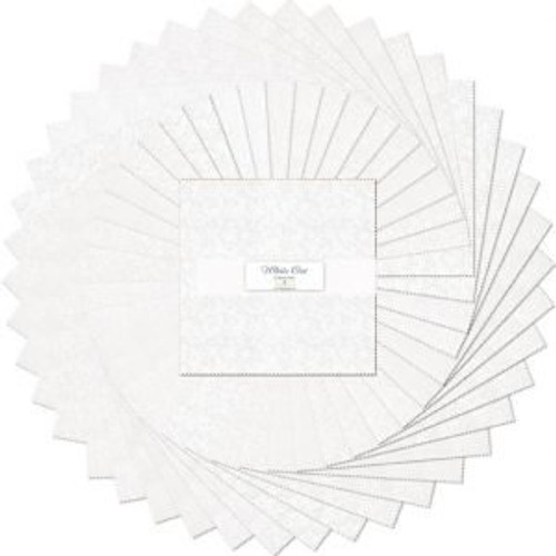 "PreCuts-10 Karat Gems, layer cake, 10"" squares, white out"