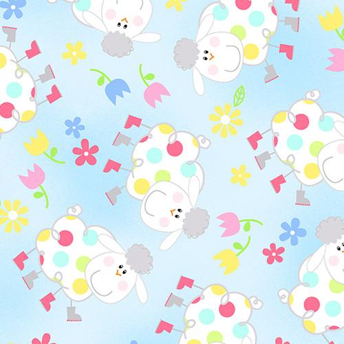 Hippity Hoppity-sheep sky blue