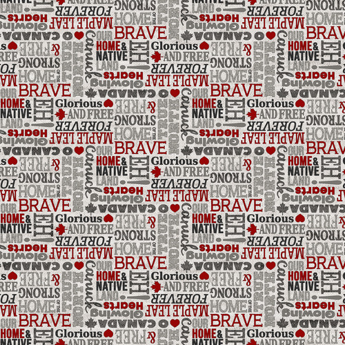 My Canada-Glorious and Free, Brave, eh! on grey
