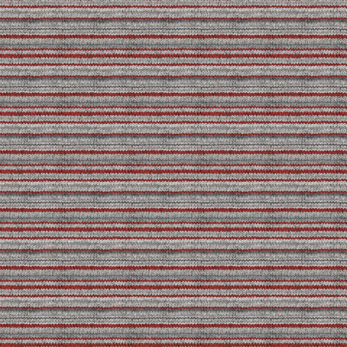 My Canada-knit-look red/grey stripe