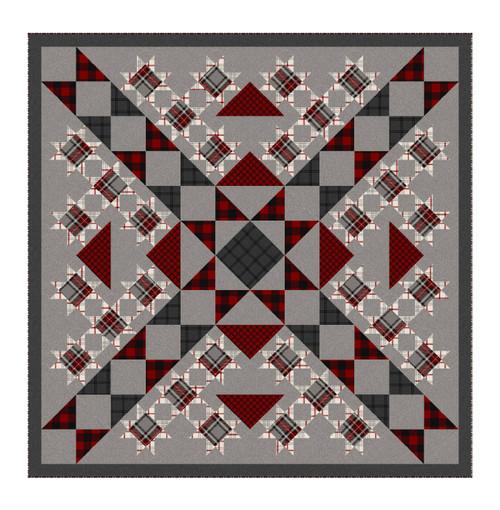Buffalo Stars pattern - using fabric from West Creek
