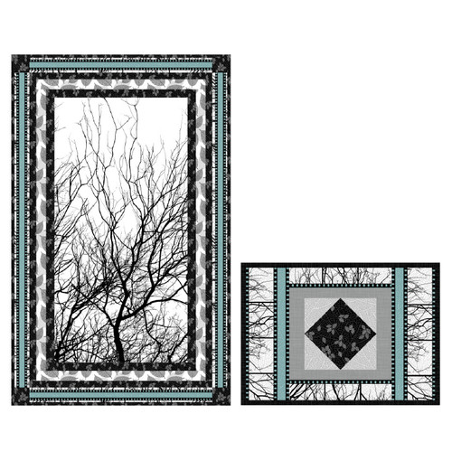 Moonlight Silhouette pattern - using fabrics from Silhouette collection