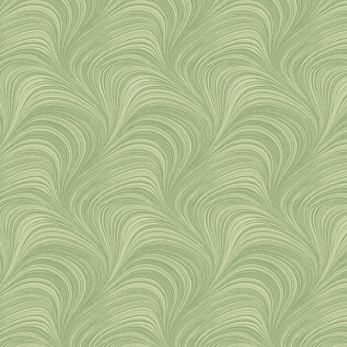 """Wave Texture - 108"""" wide, green"""