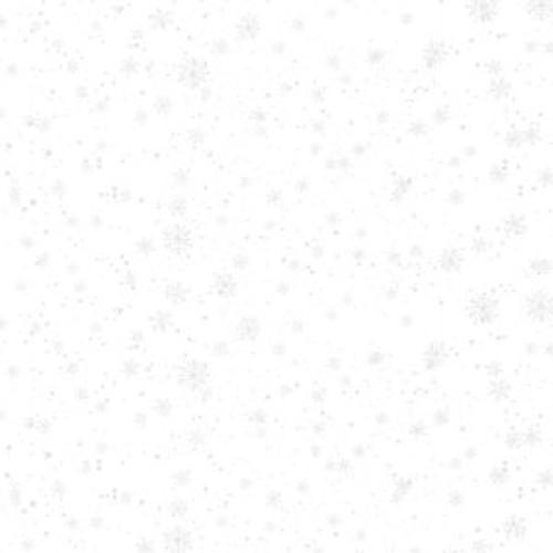 Nose to Nose - white on white snowflakes