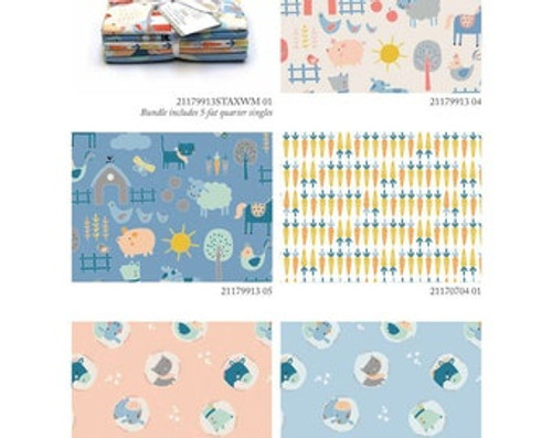 Baby Zoo, (5) fat quarters stax