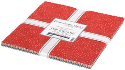"""Flowerhouse, Basics - 10"""" squares, 42 fabrics"""