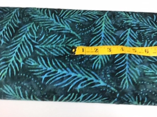 Wide backing-Teal palm leaves