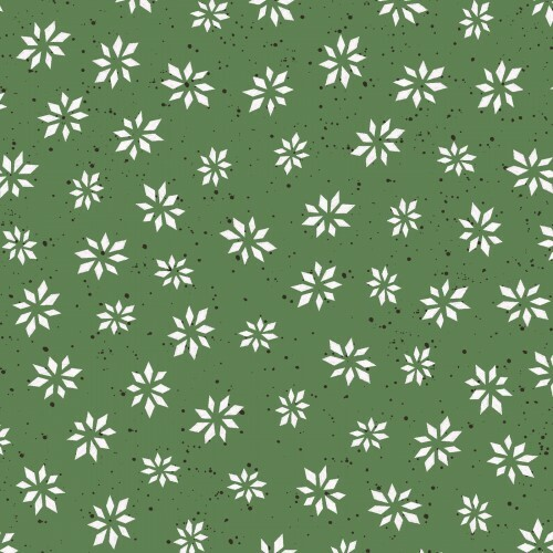 snowflake star-green, digital print