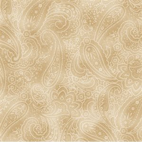 """Radiant Paisley, 108"""" wide, wheat"""