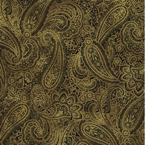 "Radiant Paisley, 108"" wide, chestnut"