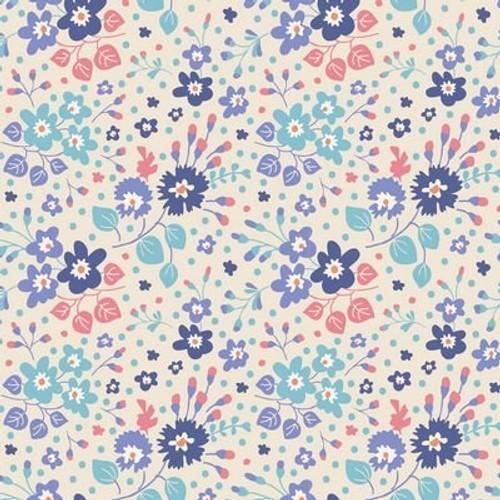 Tilda's World - Flower Confetti Blue