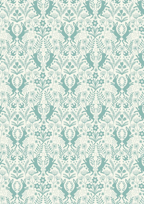 Spring Hare-Bunnies, teal
