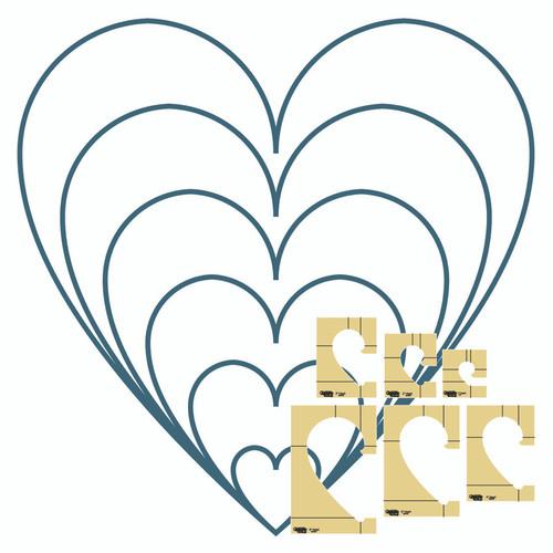 Westalee - HEARTS template, 6 PCS