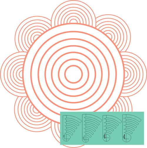 Westalee - CIRCLES ON QUILTS, CIRCLES, SET 3