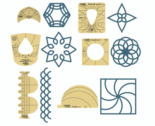 Westalee - SAMPLER TEMPLATE, SET 1, 6 PCS
