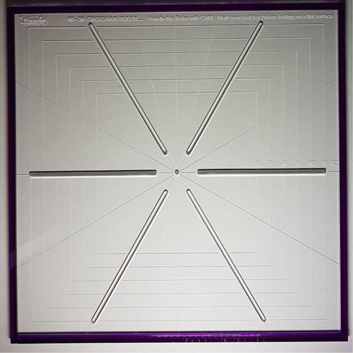 Westalee - 6 POINT CROSSHAIR RULER, 12""