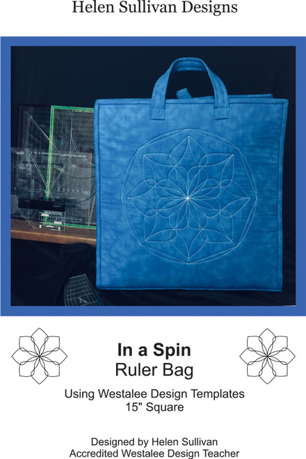 Westalee - IN A SPIN RULER BAG pattern
