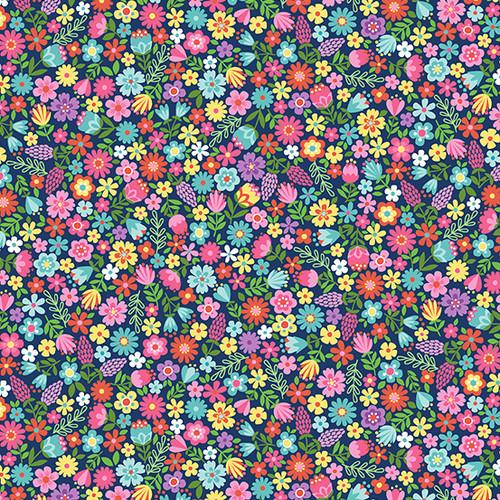 Daydream - Floral, blue