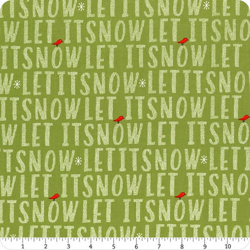 Mistletoe - let it snow on green