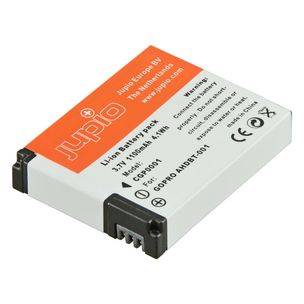Jupio GoPro AHDBT-001, AHDBT-002 (HD Hero / HD Hero 2 / HD Hero 960) 1100 mAh Camcorder Battery