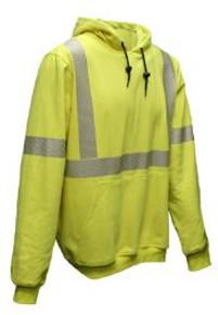 NSA FR Hi-Vis Hooded Pullover Sweatshirt