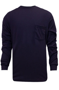 The FR Classic cotton long sleeve t-shirt provides optimal comfort with soft, breathable fabric and generous sizing for optimal movement. This T-shirt is durable with covered seams and a reinforced left chest pocket and can be home laundered for added convenience. Made in the USA and available in several colors.