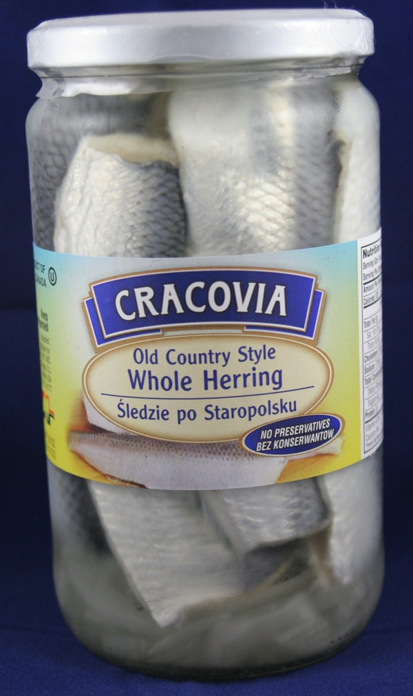 Old Country Style Whole Herring Sledzie po Staropolsku