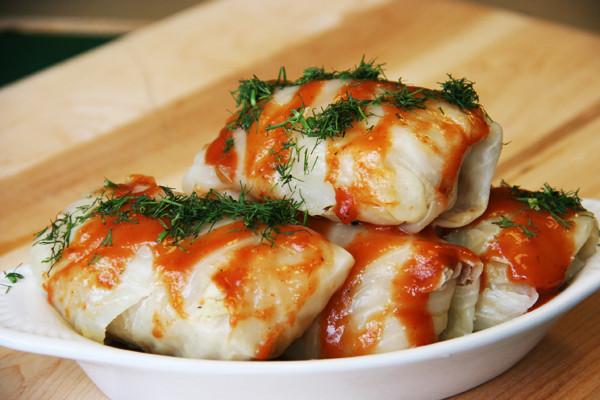 Stuffed Cabbage -Golabki- 4 Rolls w/Sauce