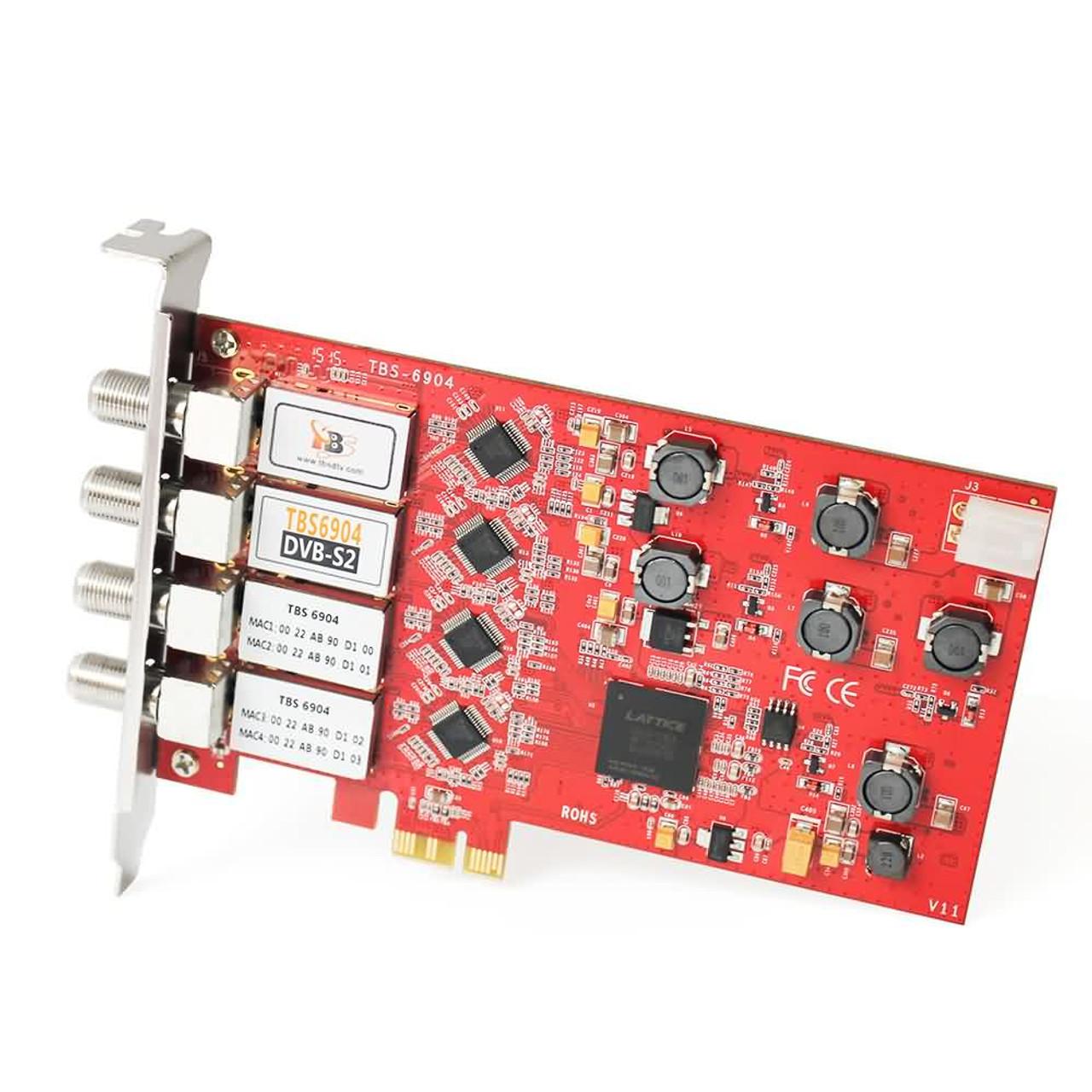TBS6904 DVB-S2 Quad Tuner PCIe Card