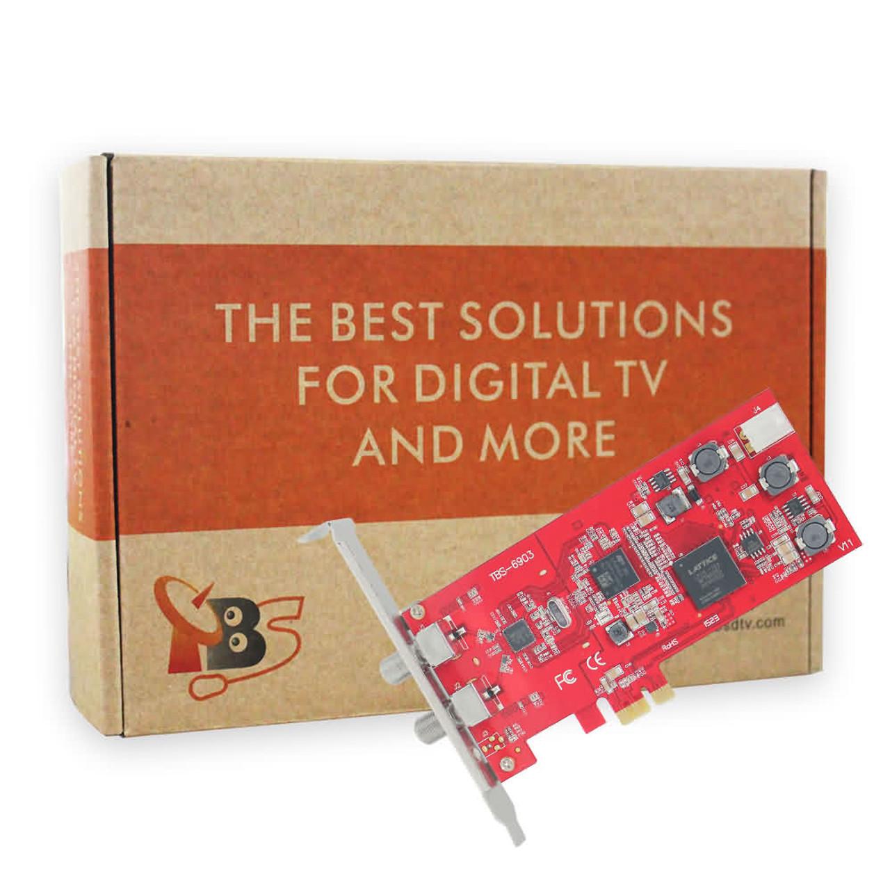 TBS6903 Professional DVB-S2 Dual Tuner PCIe Card