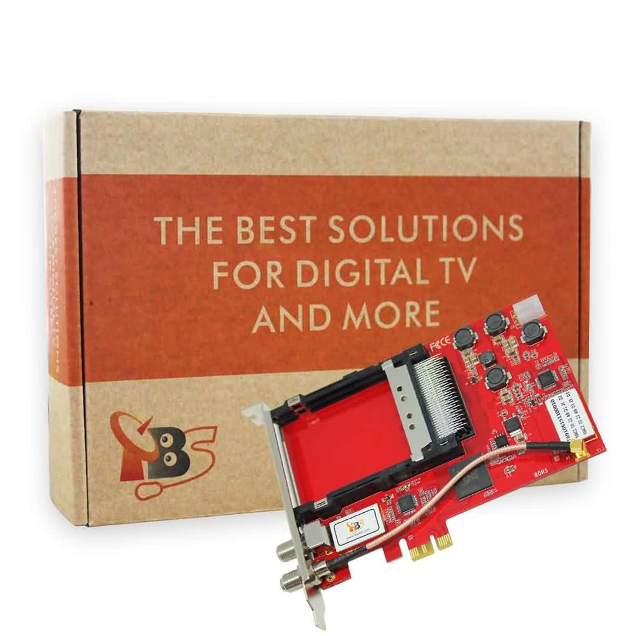 TBS6910 DVB-S2 Dual Tuner Dual CI PCIe Card