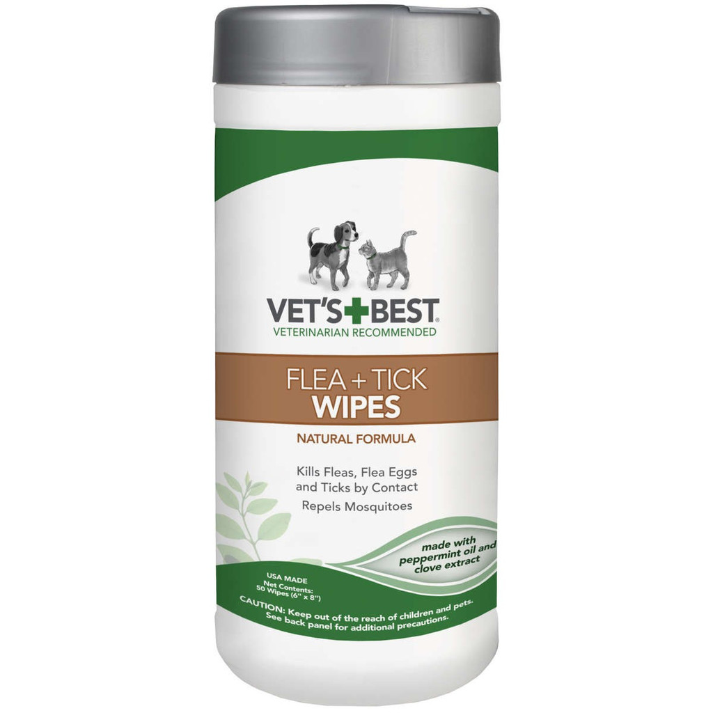 Vet's Best Dog Flea and Tick Wipes 50 ct