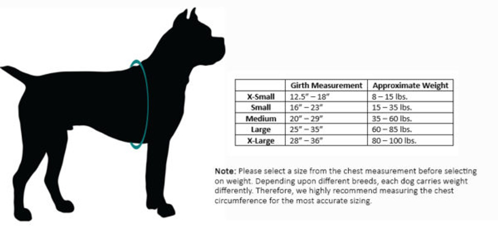 Canine Comfort Size Chart