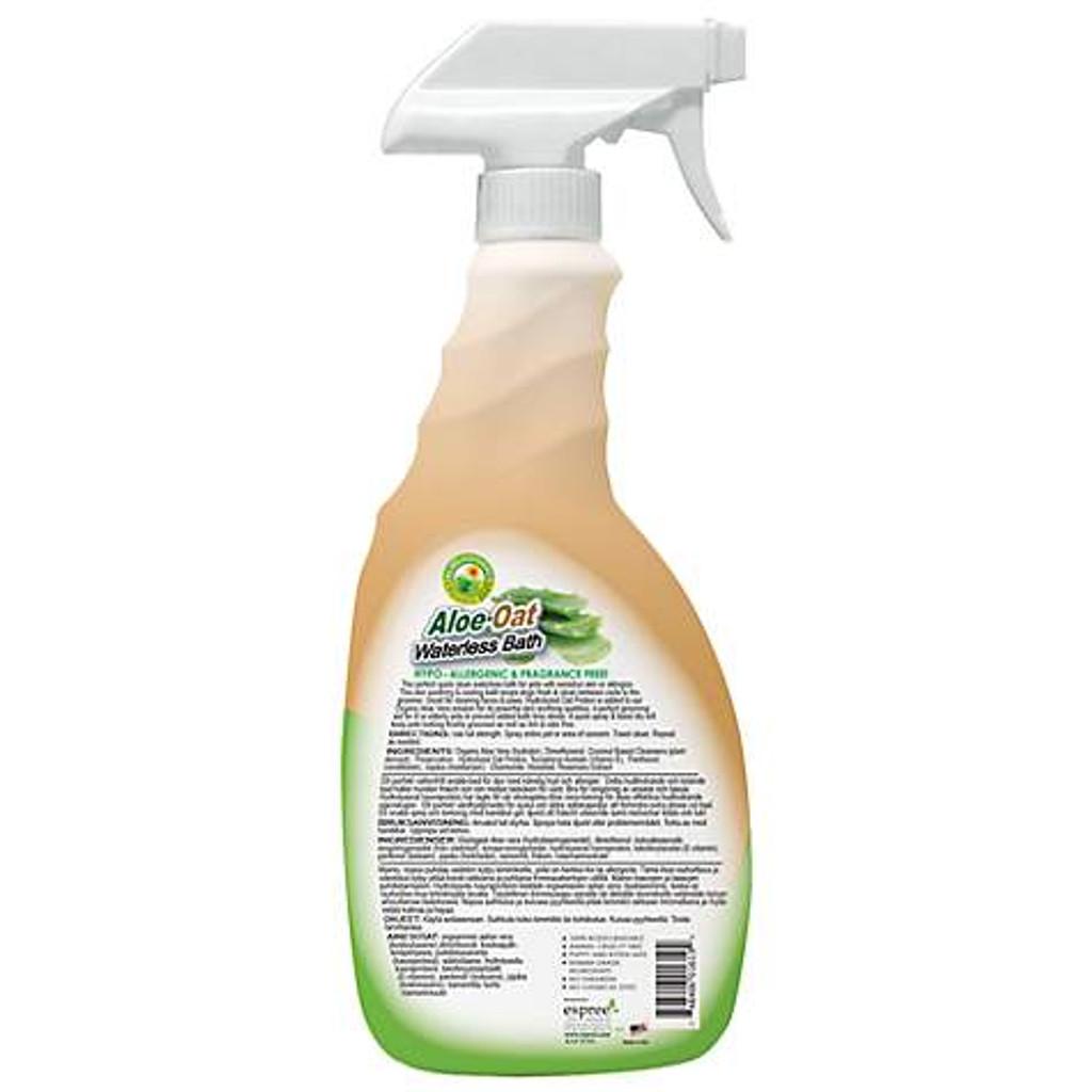 Waterless Aloe and Oat bath label