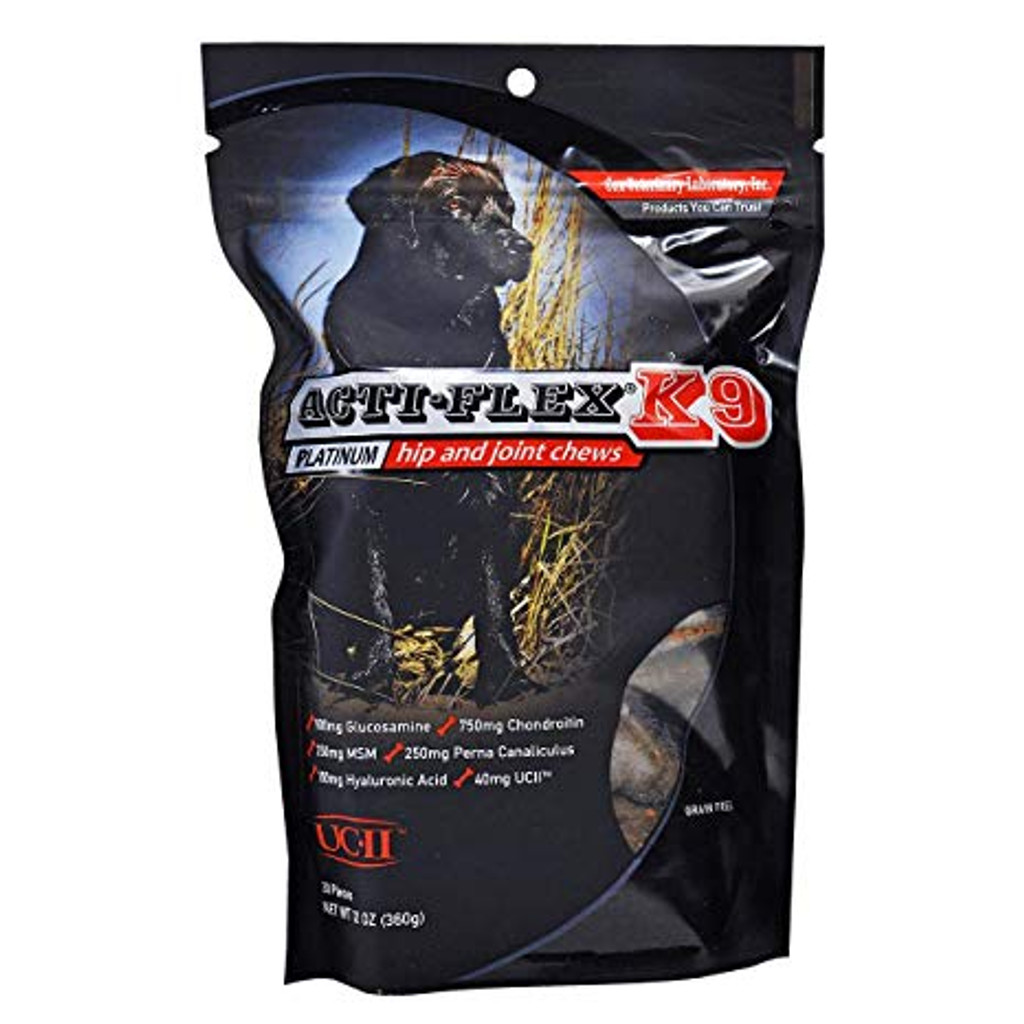 Acti-Flex K9 Platinum dog chews, 30 count resealable bag