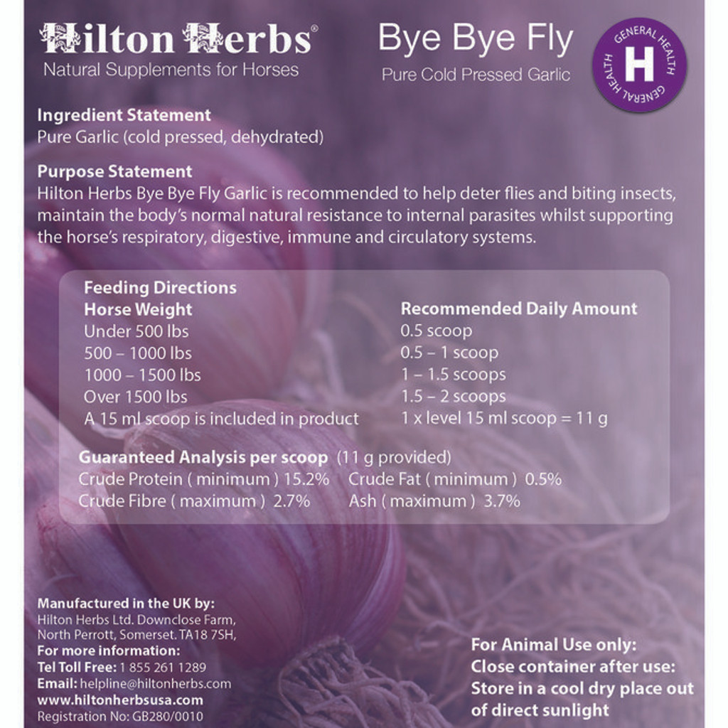 Hilton Herbs Bye Bye Fly garlic supplement
