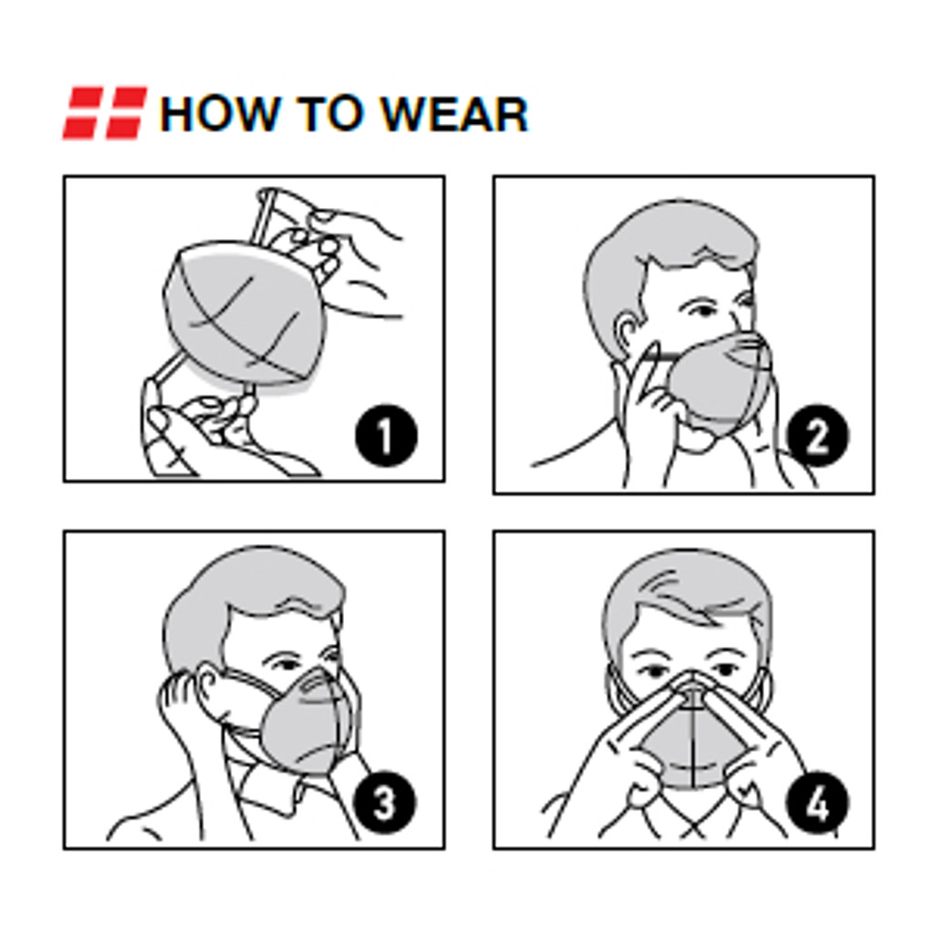 How to wear protective mask