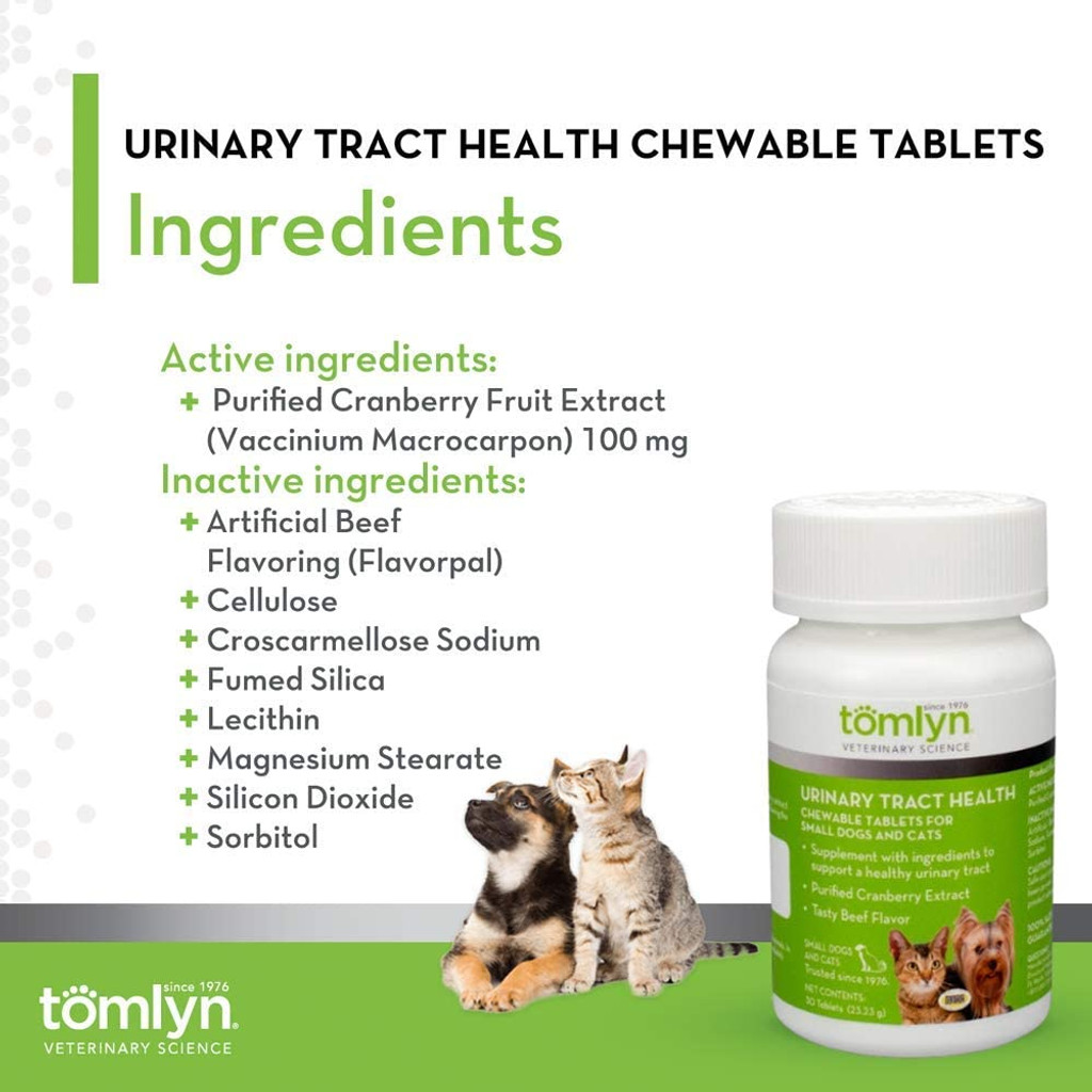 Urinary Tract Health Chew Tabs Product Info