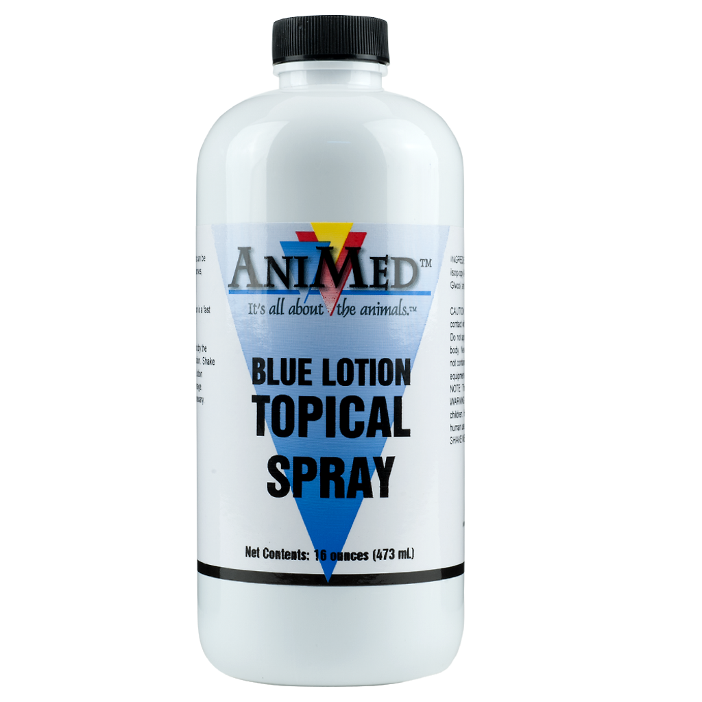 AniMed Blue Lotion Topical Antiseptic 16 oz