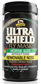UltraShield Fly Mask Horse Size w/o Ears Removable Nose