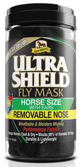 UltraShield Fly Mask Horse Size with Ears and Removable Nose