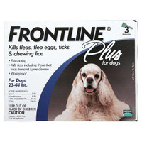 Frontline Flea Control Plus for Dogs And Puppies 23-44 lbs