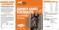 Summer Games® Electrolyte label