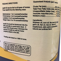 DAC fatty acid supplement for horses label